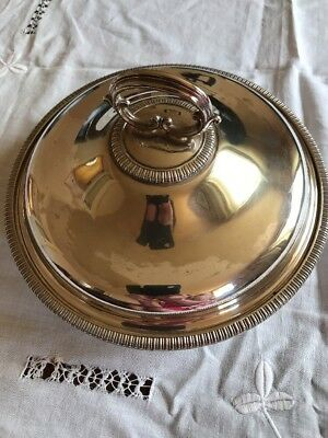 Harrison Brothers & Howson Alpha  Silver Plated Antique  Dish Tureen Divider