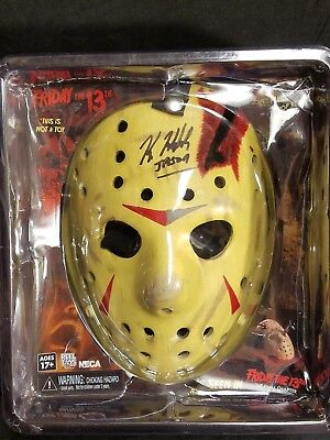 Autographed Neca Friday the 13th Final Chapter Hockey Mask Signed by Kane Hodder