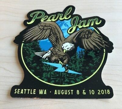 Pearl Jam Official Seattle Concert Sticker 2018 The Home Shows Safeco Eagle