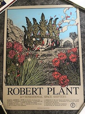 Robert Plant 2018 US Tour Poster~Rare Numbered#1101/1300 Lithograph Led Zeppelin
