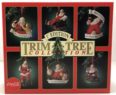 Trim A Tree 1st Edition Ornaments Coca Cola Collection Set of 6 Christmas Decor