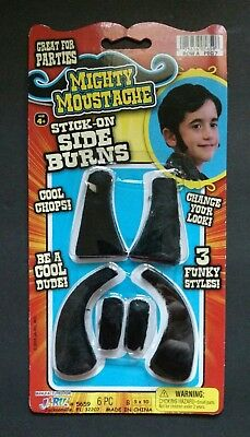 Stick On Sideburns from Mighty Moustache Perfect Accessory for Halloween Costume