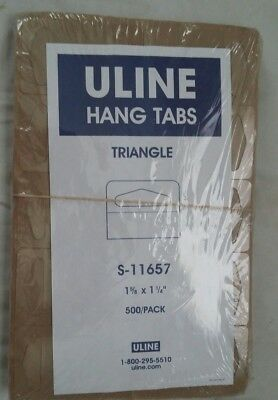 Uline 500 Pcs Hang Tabs for Store Display butterfly triangle Hole 1 5/8 x 1 1/4