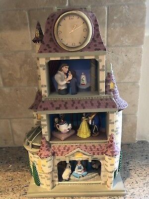 Disney Beauty and the Beast Magic Moments in Time Belle Castle Clock Figurine