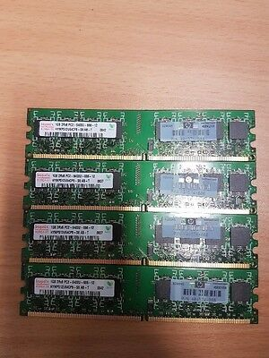 HYNIX 1GB 2Rx8 PC2-12800R - 6400U-12 HYMP512U64CP8-S6,AB-T, 4 Sticks for price 1