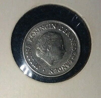 1950 Netherlands 25 Cent Coin