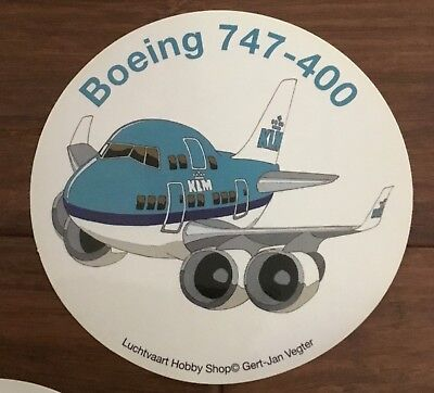New! KLM Royal Dutch Airlines Boeing 747 400 Sticker 4""