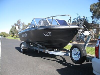Glastron Fishing Boat Unfinished Project, Mackay Trailer Both Have Long Vic Reg