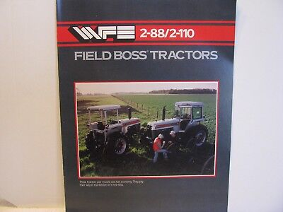 White WFE 2-88/2-110 Field Boss Tractors Brochure 12 Pages with Specs NOS
