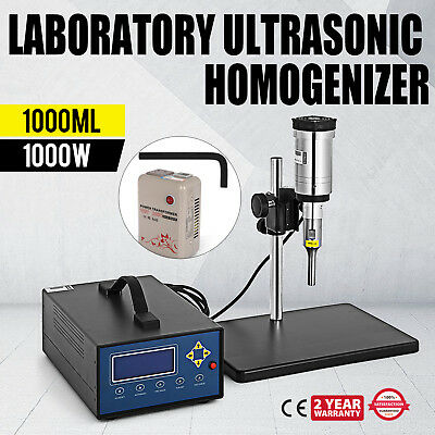 Ultrasonic Homogenizer Sonicator 1000W 20Khz Efficient Fuel 2L Volume PRO