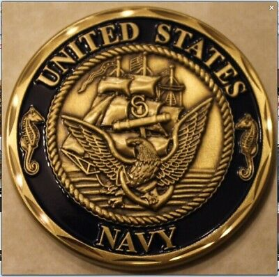 US Navy Gold Plated Commemorative Coin Navy honor badge Military coins Crafts