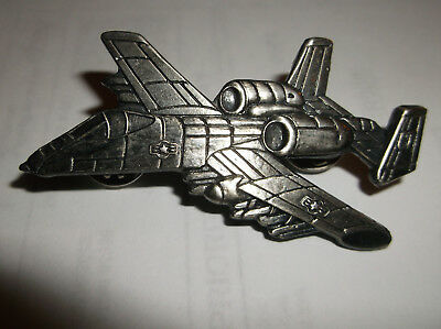 Fairchild A-10 WARTHOG AIR FORCE ATTACK AIRCRAFT Lapel HAT PIN BADGE 2.5 INCH