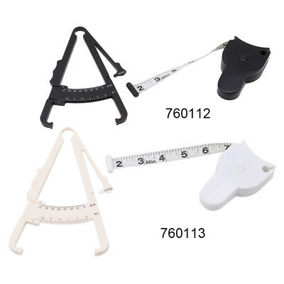 Body Fat Caliper Mass Measuring Tape Tester Fitness Weight Safety Loss Muscle SM
