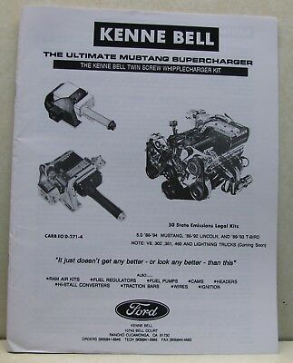Kenne Bell Mustang Supercharger Brochure, W/Price List