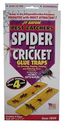 JT Easy Trap Spider Cricket Insect Sticky Mat Safe Non Toxic Killer Mice
