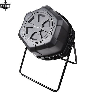 170L Compost Bin Tumbler Composter Food Recycle Food Waste Ventilated + Agitator
