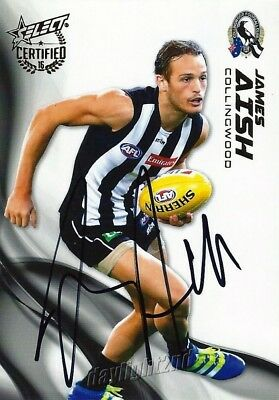 ✺Signed✺ 2016 COLLINGWOOD MAGPIES AFL Card JAMES AISH