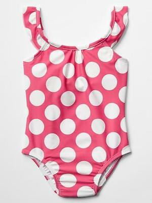 NWT New Baby Gap Girl Printed Flutter Swimsuit 1pc Romantic  Size 4 years