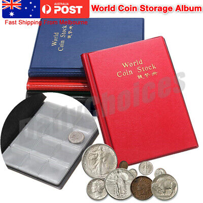 120 Coins Holder Money Storage Pockets Penny Collection Album Book Collecting