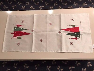 Christmas European Embroidered and Appliqued Coffee Table Cloth/Runner-New w/Tag