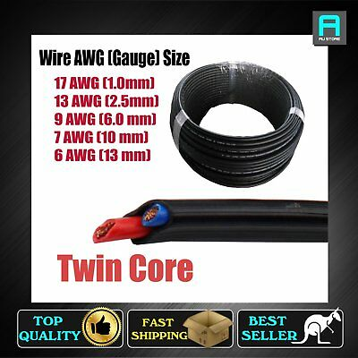 5Meter Twin Cable 2 Core Copper Wire Sheath Double Insulation Electrical AWG B&S