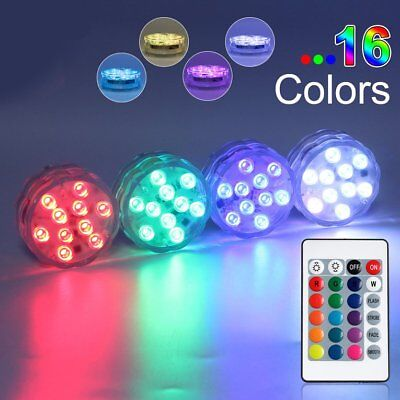 Swimming Pool Light RGB LED Bulb Remote Control Underwater Color Vase Decor RT