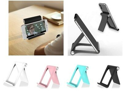 Universal Foldable Cell Phone Desk Stand Holder Mount Cradle For Phone Tablet w1