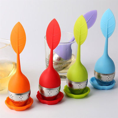Tea Infuser Loose Leaf Strainer Silicone Herbal Spice Filter Diffuser Ball Tools