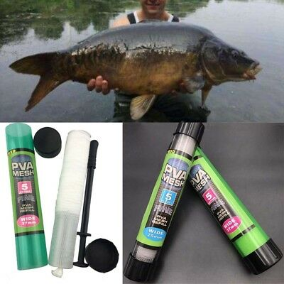 PVA Wide Mesh 5 Metres Stocking & Plunger Free Tube 18/25/37mm for Carp Fishing