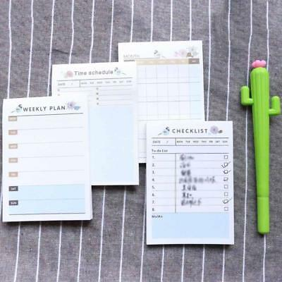 Creative Bird Flower Can Tear Office Plan Memo Pad Sticky Notes Bookmarks Note