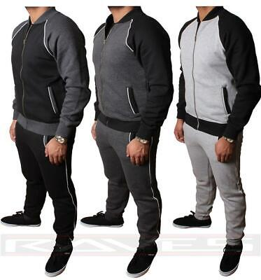 New Mens Fleece Full Tracksuit Top and Jogging Bottom Zip Sports Suit TS2313