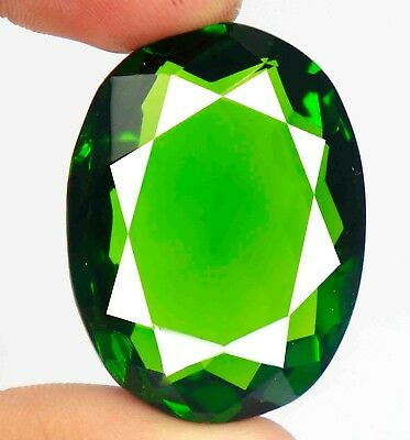 107.90 Ct EGL Certified Loose Transparent Oval Cut Green Moldavite Gems BZ2895
