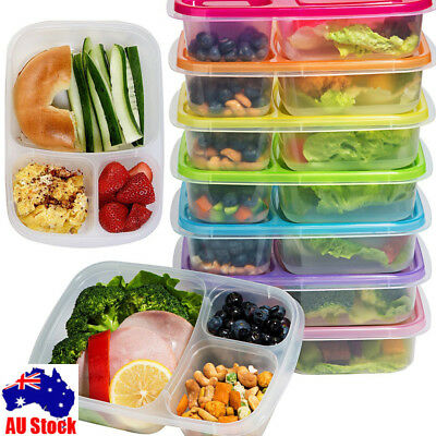 Microwave Bento Utensils Lunch Box Picnic SuShi Food Container Storage Box AUS