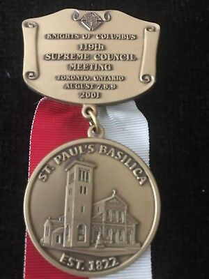2001 Knights of Columbus Convention Ribbon Badge