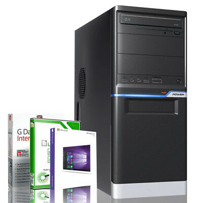 PC Quad Computer GAMER AMD A10 Quad Core 8GB 500GB HDD 120GB SSD Windows 10 PRO