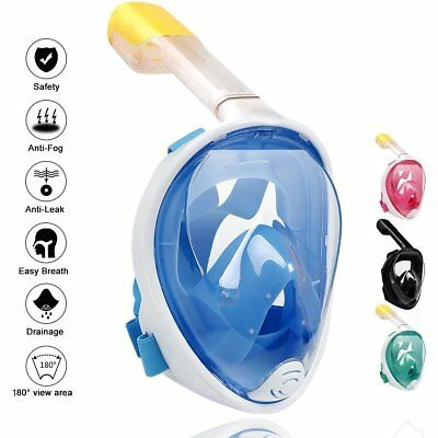 Hot Sell! Full Face Snorkeling Mask Scuba Diving Swimming Snorkel Breather Pipe
