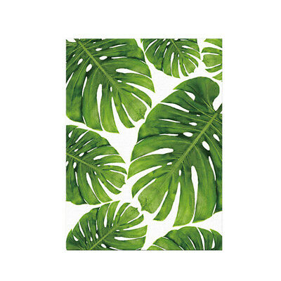 Watercolor Green Banana Leaves Canvas Painting Office Home Wall Art Poster L