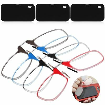Ultra Thin Easy Carry Nose Clip Optics Presbyopic Ultralight Reading Glasses