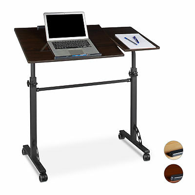 Height Adjustable Laptop Table Podium Lectern Office Rolling Notebook Stand