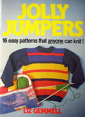 Knitting Pattern Book - JOLLY JUMPERS by Liz Gemmell -16 Easy Family Designs VGC