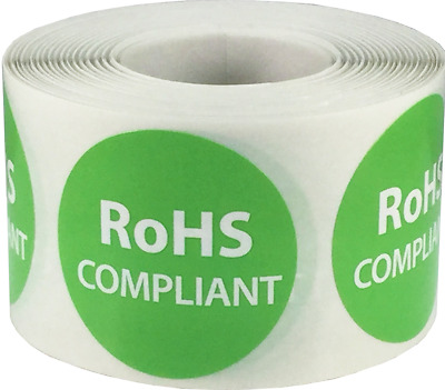 RoHS Compliant Labels Lead Free Packaging 1.5 Inch Circle 500 Adhesive Stickers