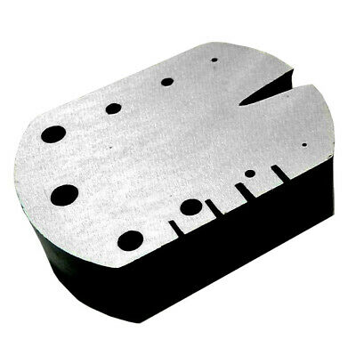 Small Hardened Steel Slot Anvil With V-Slot And 9 Holes For Staking & Rivetting