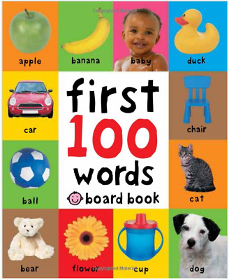 Baby Gift First 100 Words Hardcover Book Kids &Toddlers Brighter Child Learning