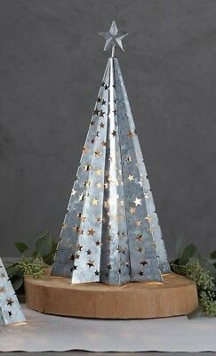 Pottery Barn Galvanized TREE AMBIENT LAMP Large Christmas New in box