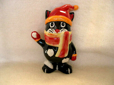 Lorna Bailey Cat Snowball Signed Collectors Cats Christmas Xmas Figurine Winter