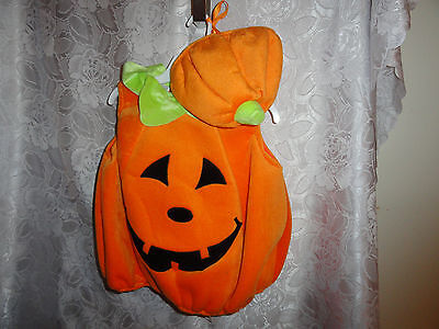 Toddler's 2 Pc Pumpkin Halloween Costume-One Size Fits Most To 4T