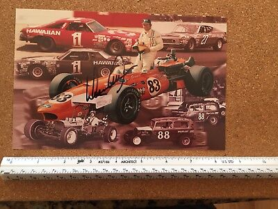 Donnie Allison Signed card Ford Torino Cobra Hawaiian Tropic Vintage NASCAR
