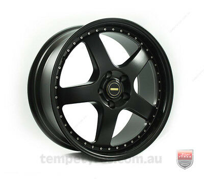 HOLDEN VECTRA WHEELS PACKAGE: 19x8.5 19x9.5 Simmons FR-1 Satin Black and Winrun
