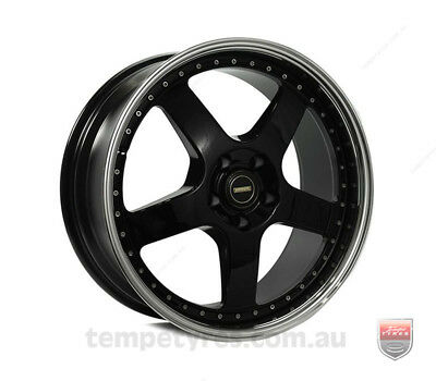 HOLDEN VECTRA WHEELS PACKAGE: 19x7.0 19x8.5 Simmons FR-1 Gloss Black and Winrun