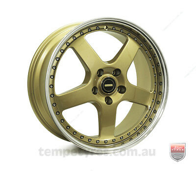NISSAN 200SX WHEELS PACKAGE: 19x7.0 19x8.5 Simmons FR-1 Gold and Winrun Tyres